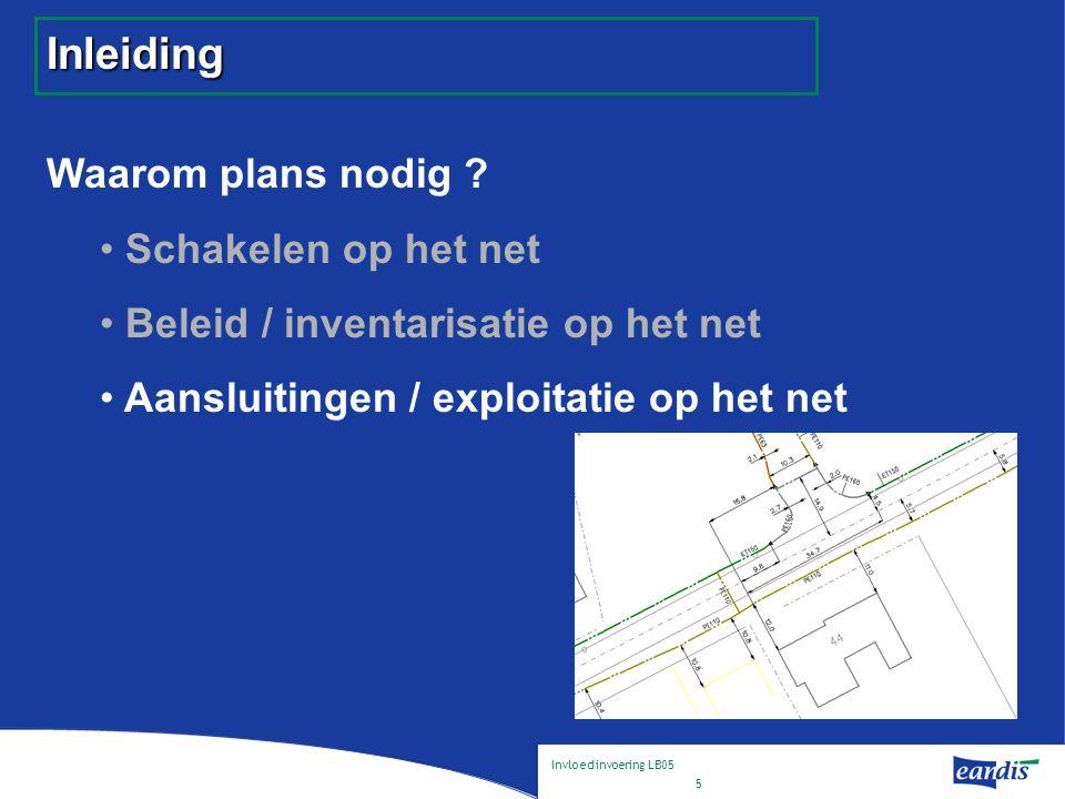 Invloed invoering LB05 6 Inleiding Waarom plans nodig .