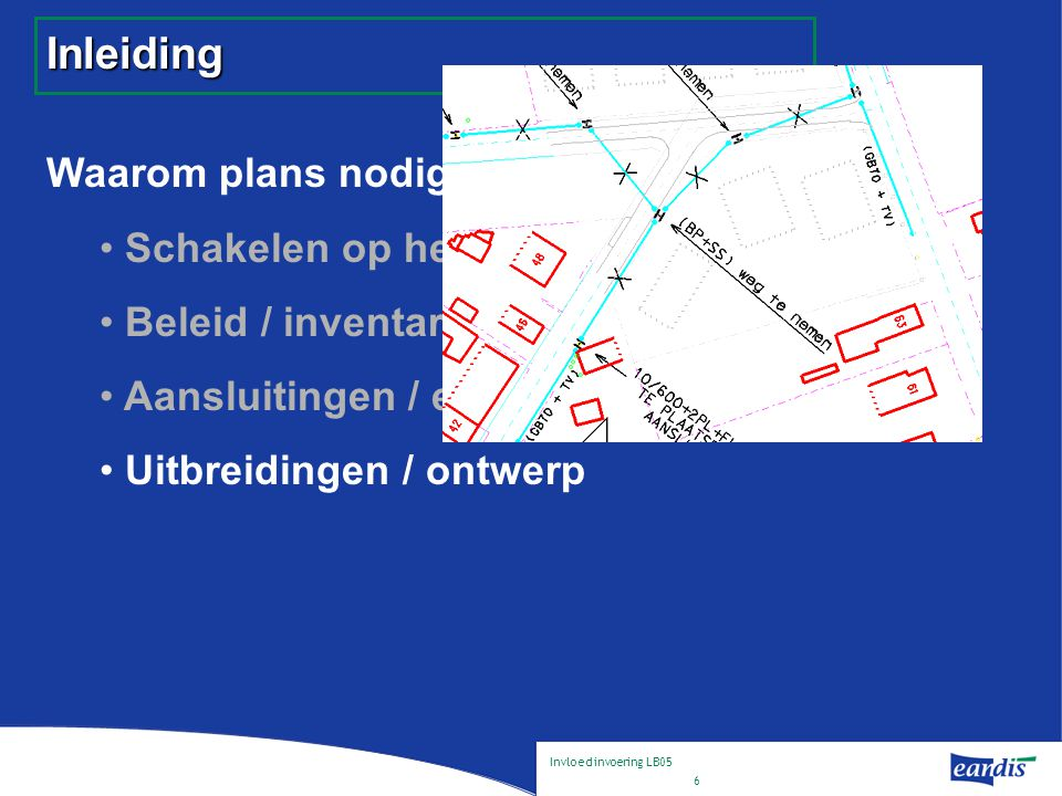 Invloed invoering LB05 7 Inleiding Waarom plans nodig .