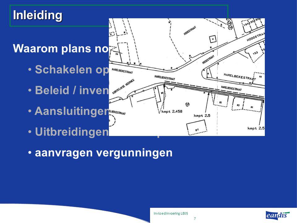 Invloed invoering LB05 8 Inleiding Waarom plans nodig .