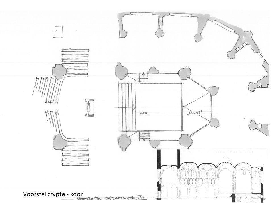 15 Voorstel crypte - koor