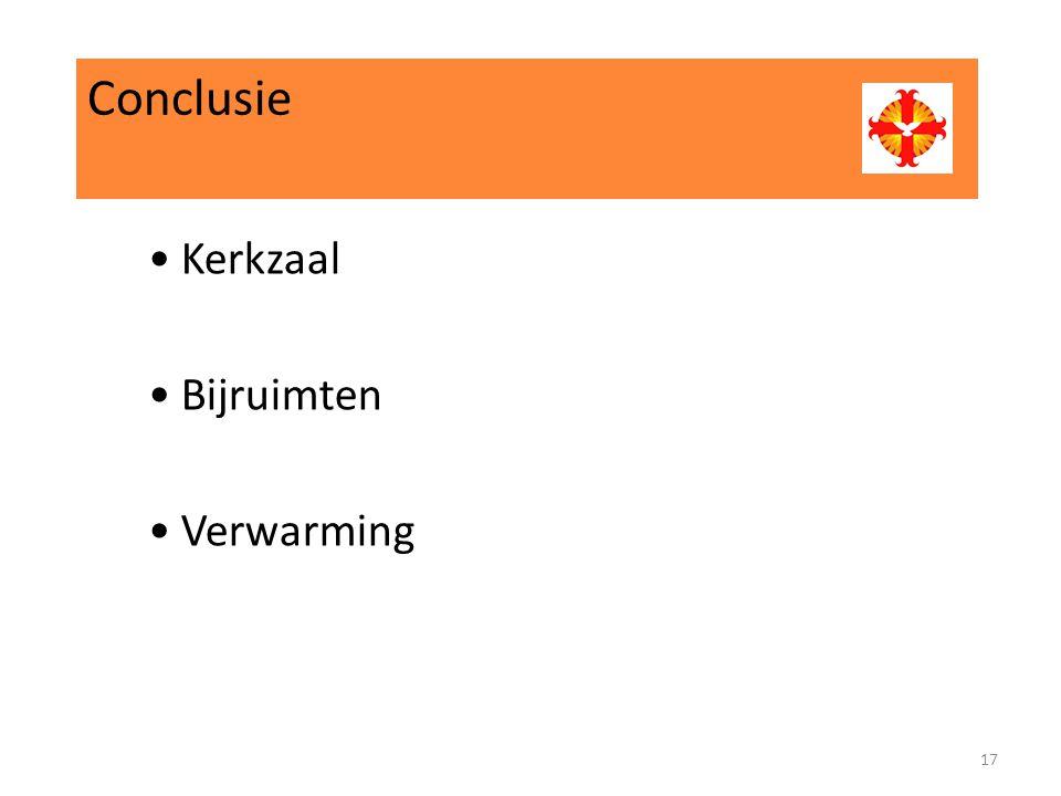 Conclusie Kerkzaal Bijruimten Verwarming 17