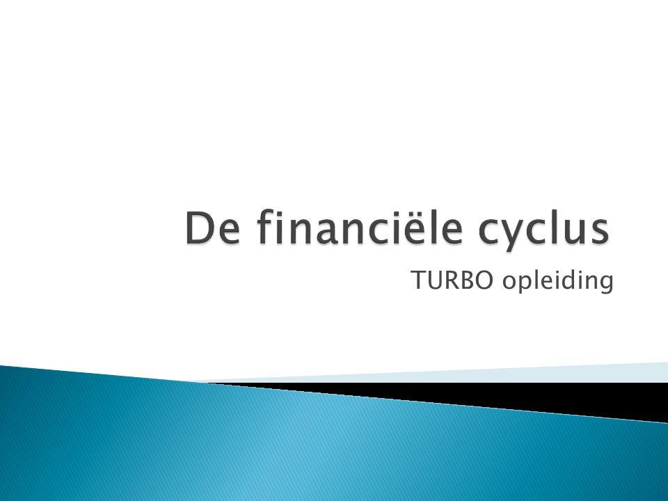  Vastleggen doelstellingen en ramingen  Fase van opmaak beleids- en financiële nota ◦ Inventariseren ◦ Bewerken ◦ Gegevensinvoer ◦ Confronteren ◦ Beslissen ◦ Programmeren (kan doorlopen begin volgend jaar)