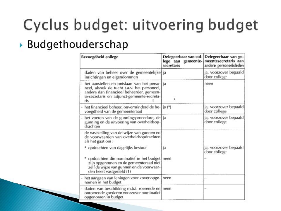  Budgethouderschap