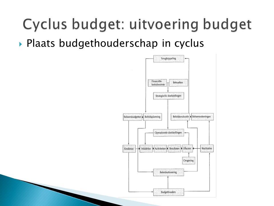  Plaats budgethouderschap in cyclus