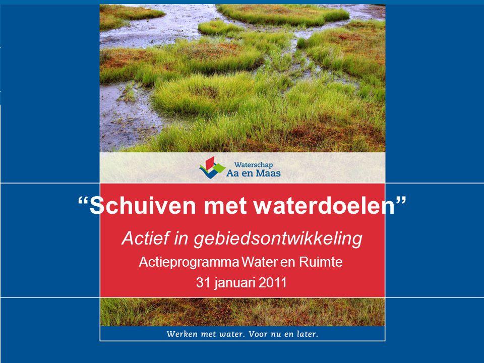 """1 tekst """"Schuiven met waterdoelen"""" Actief in gebiedsontwikkeling Actieprogramma Water en Ruimte 31 januari 2011"""