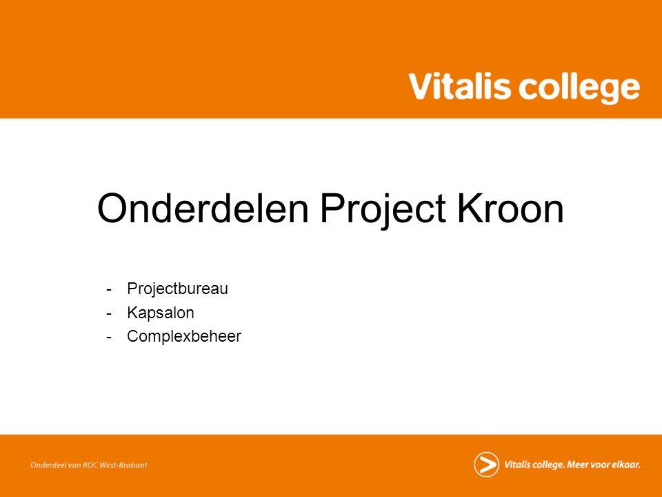 Onderdelen Project Kroon -Projectbureau -Kapsalon -Complexbeheer