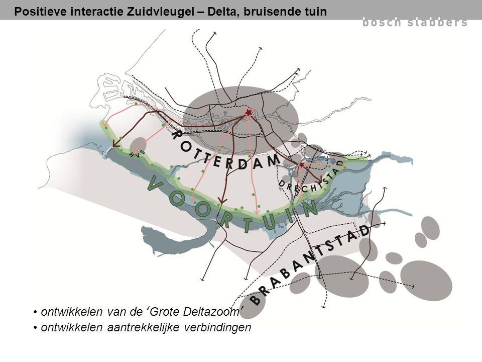 Positieve interactie Zuidvleugel – Delta, bruisende tuin ontwikkelen van de 'Grote Deltazoom' ontwikkelen aantrekkelijke verbindingen