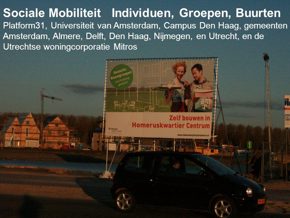 www.janrath.com4 Sociale Mobiliteit Individuen, Groepen, Buurten Platform31, Universiteit van Amsterdam, Campus Den Haag, gemeenten Amsterdam, Almere,