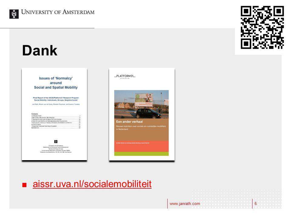 www.janrath.com6 Dank aissr.uva.nl/socialemobiliteit 6