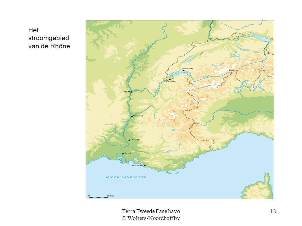 Terra Tweede Fase havo © Wolters-Noordhoff bv 10 Het stroomgebied van de Rhône