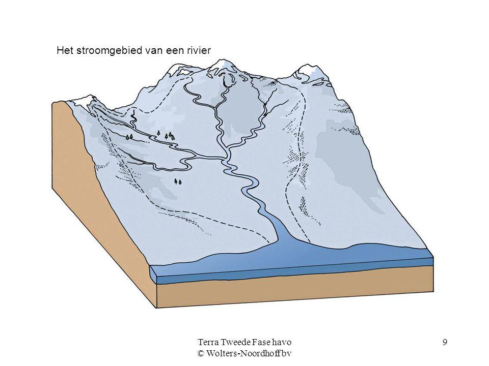 Terra Tweede Fase havo © Wolters-Noordhoff bv 9 Het stroomgebied van een rivier