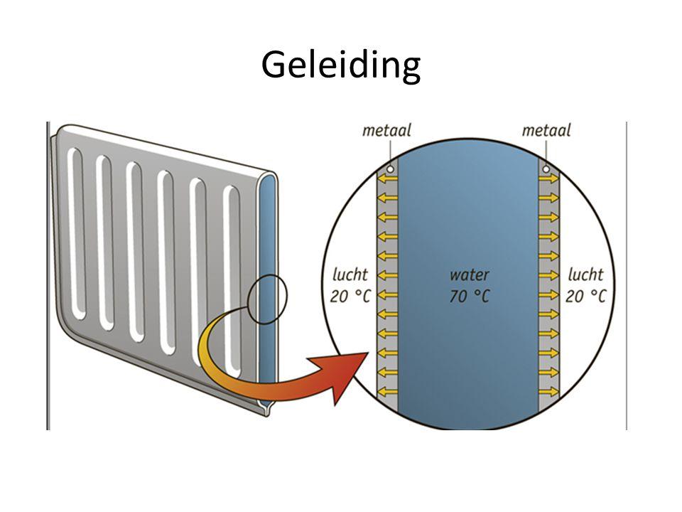 Goede warmtegeleiders: Metalen Slechte warmtegeleiders: Andere vaste stoffen (vb kunststof)