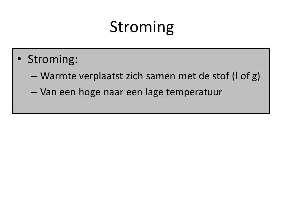 Stroming De CV-installatie: