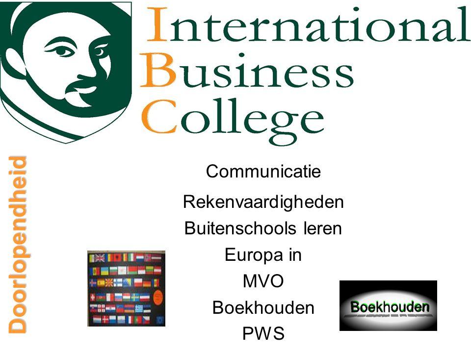 Doorlopendheid Communicatie Rekenvaardigheden Buitenschools leren Europa in MVO Boekhouden PWS
