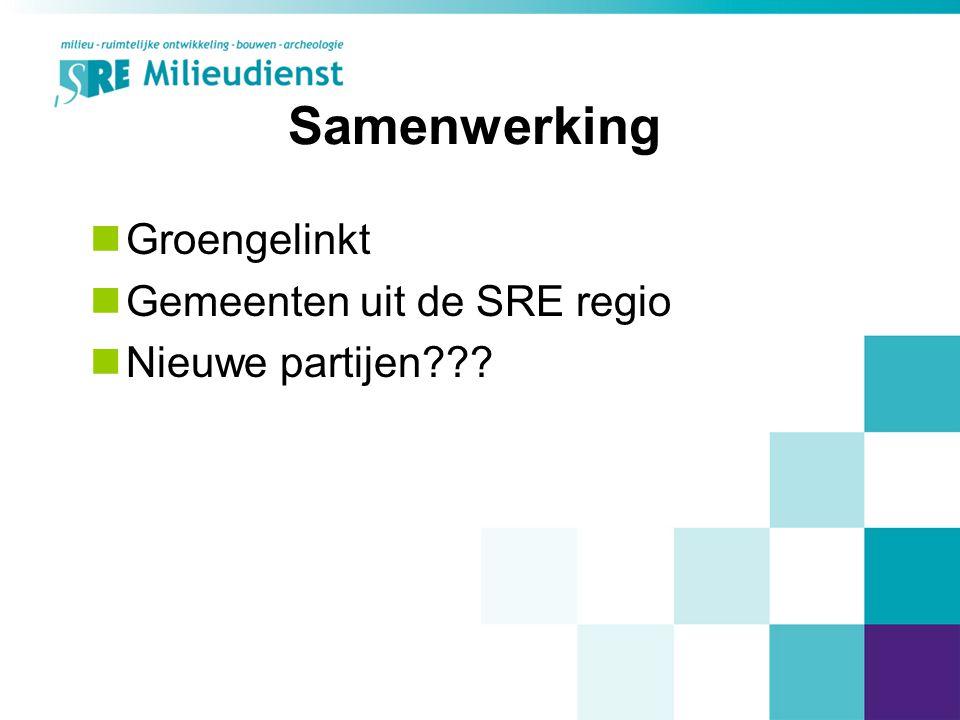 Samenwerking Groengelinkt Gemeenten uit de SRE regio Nieuwe partijen