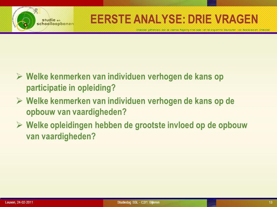 Onderzoek gefinancierd door de Vlaamse Regering in het kader van het programma 'Steunpunten voor Beleidsrelevant Onderzoek' Leuven, 24-02-201113 EERST