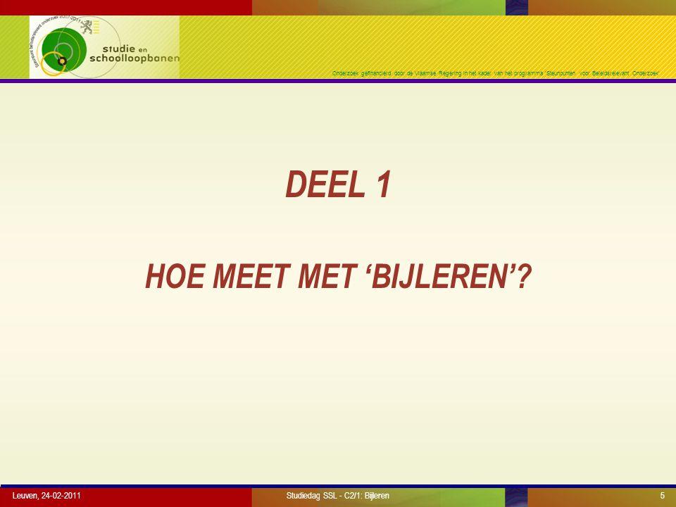 Onderzoek gefinancierd door de Vlaamse Regering in het kader van het programma 'Steunpunten voor Beleidsrelevant Onderzoek' Leuven, 24-02-20116 HOE MEET MEN 'KLASSIEK'.