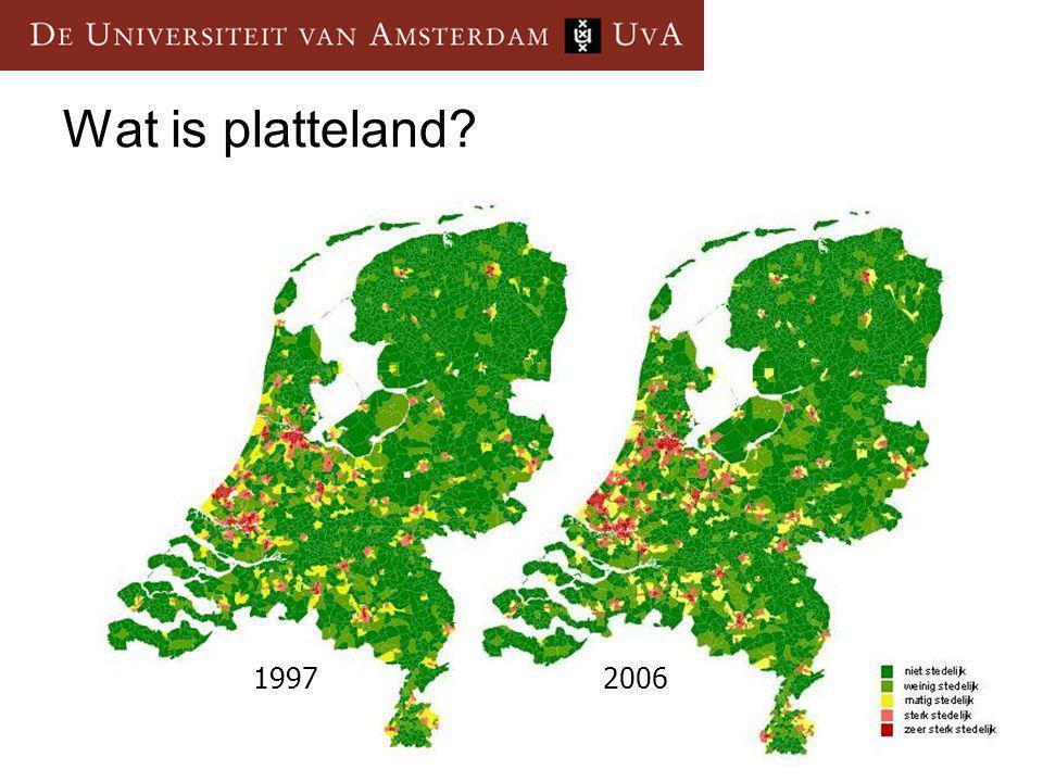 Wat is platteland? 19972006
