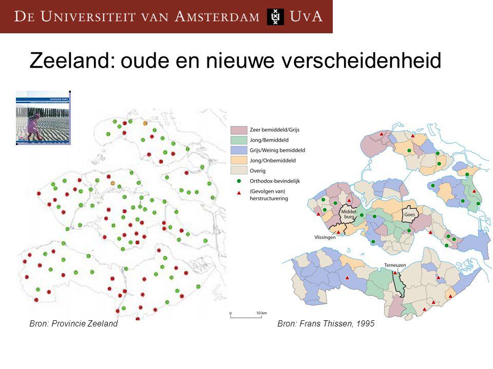 Zeeland: oude en nieuwe verscheidenheid Bron: Frans Thissen, 1995Bron: Provincie Zeeland