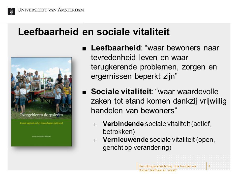 Vitaliteit van dorpen 14Bevolkingsverandering: hoe houden we dorpen leefbaar en vitaal?