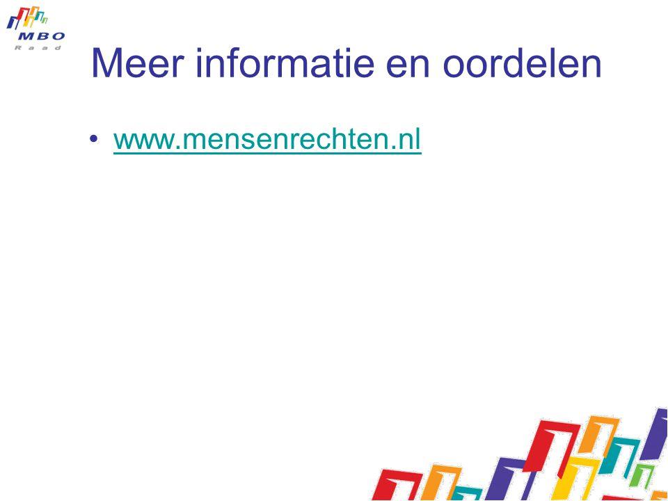 Meer informatie en oordelen www.mensenrechten.nl