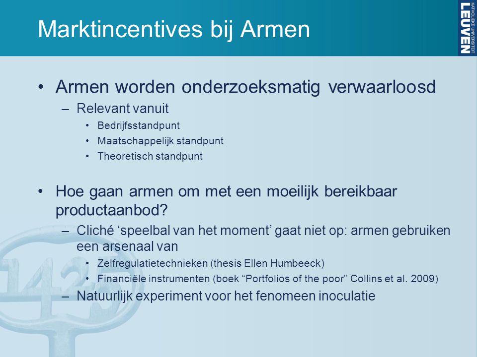 Marktincentives bij Armen Wat is inoculatie.