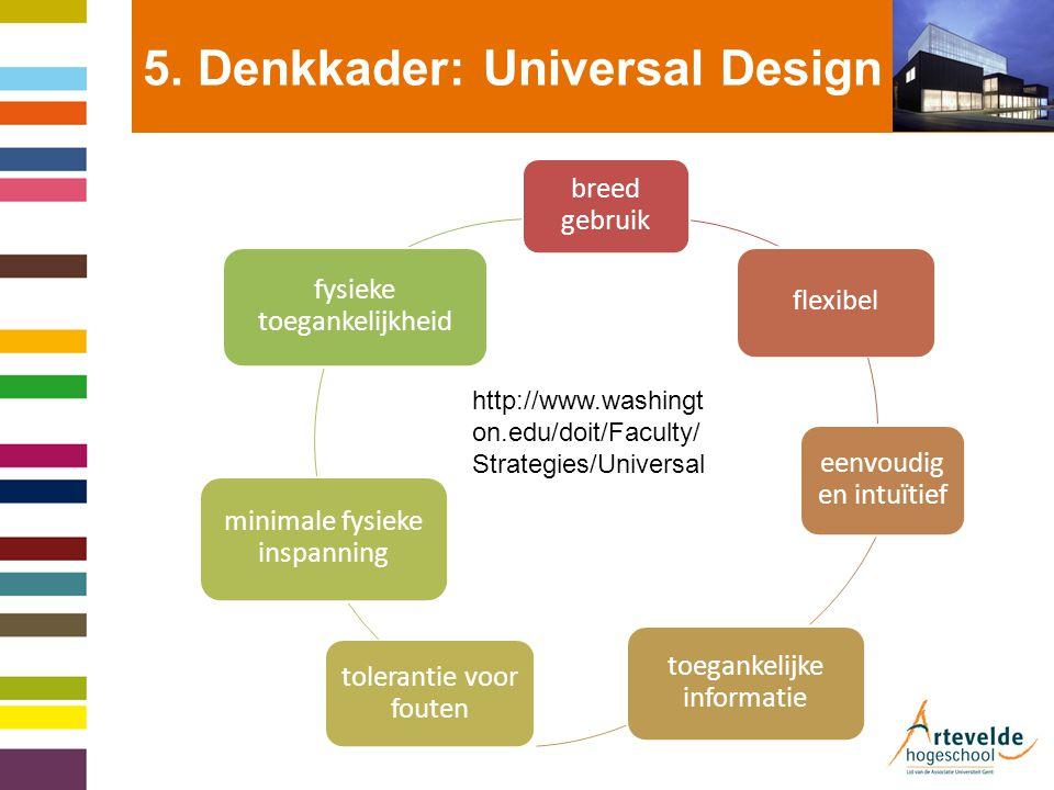 5.Denkkader: Universal Design For Instruction.