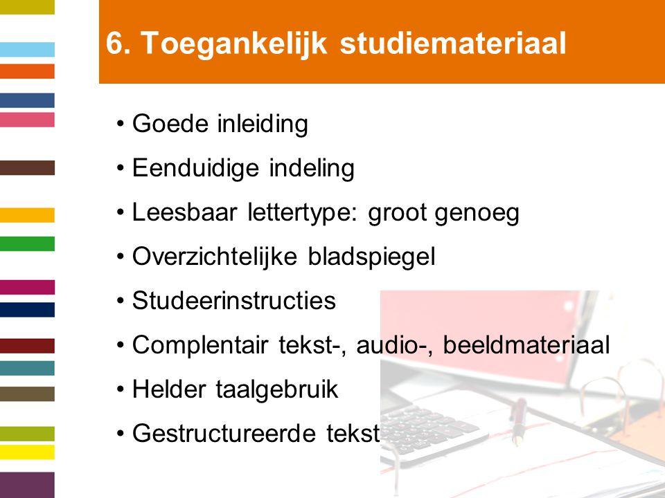 7.Toegankelijke onderwijswerkvormen.