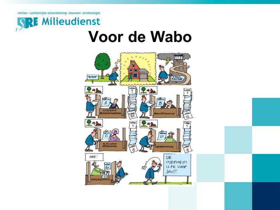 SRE & Wabo (extern) Wabo-platform: –Wabo-projectleiders uit SRE-gemeenten –personen van Provincie Noord-Brabant & VROM –gefaciliteerd door SRE Milieudienst –4-5x jaar kennis uitwisseling –werkgroepen, op gebied van o.a.