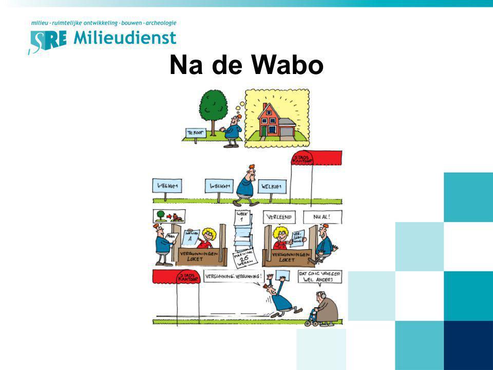 SRE & Wabo (intern) Projectgroep o.l.v.