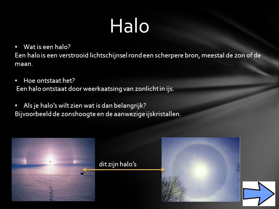 Halo Wat is een halo.