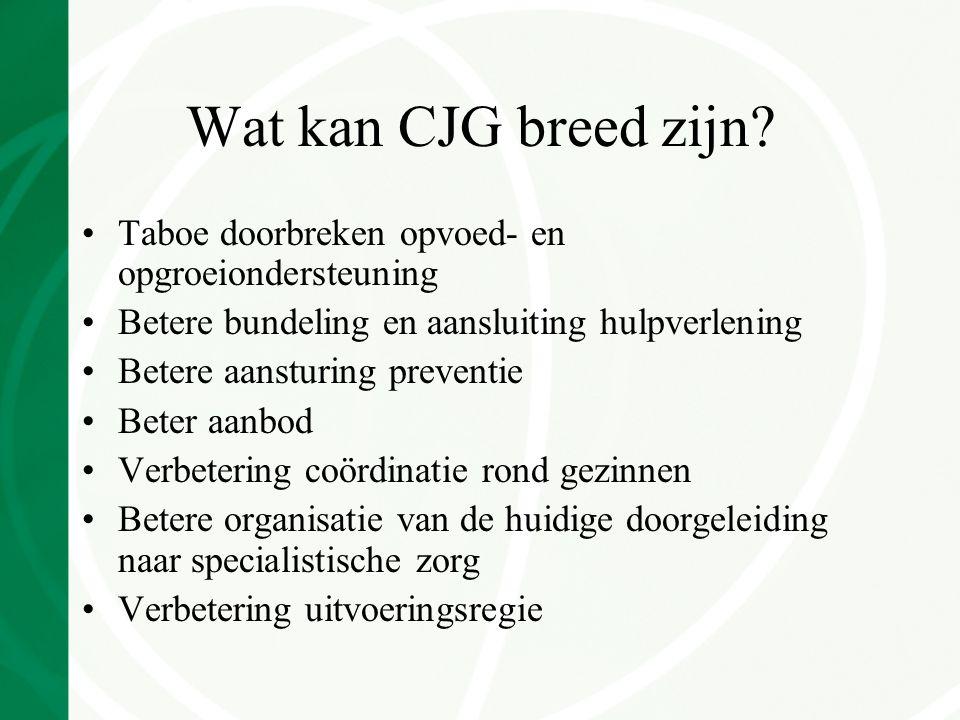 Wat kan CJG breed zijn.