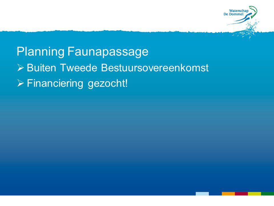 Case: De Dommel in Landgoed Gulbergen Planning Faunapassage  Buiten Tweede Bestuursovereenkomst  Financiering gezocht!