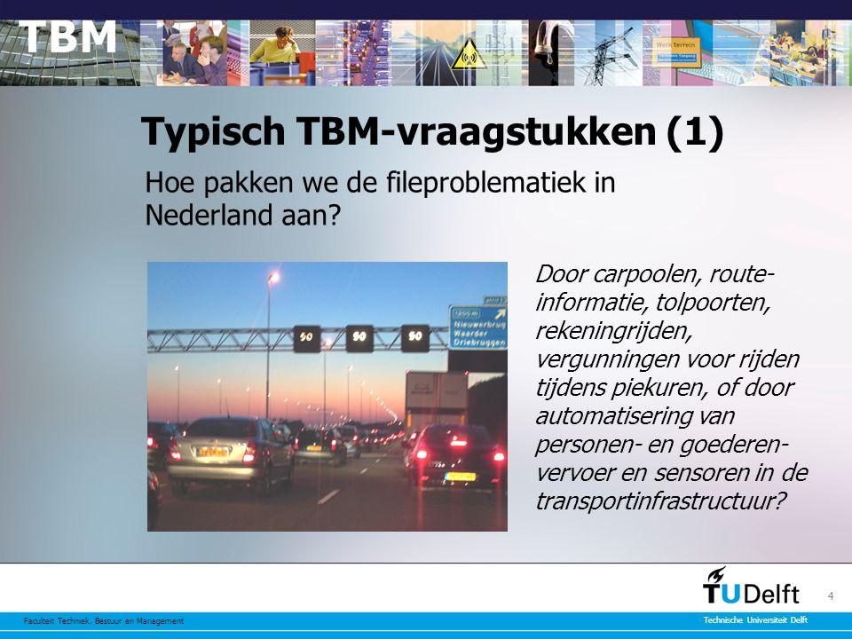 Faculteit Techniek, Bestuur en Management Technische Universiteit Delft 5 Typische TBM-vraagstukken (2) Hoe voorkomen we dat liberalisering van de elektriciteitssector tot grootschalige uitval leidt.
