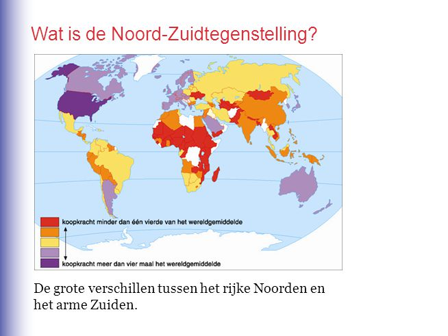 Wat is de Noord-Zuidtegenstelling.