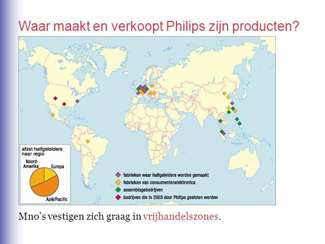 Waar maakt en verkoopt Philips zijn producten? Mno's vestigen zich graag invrijhandelszones.
