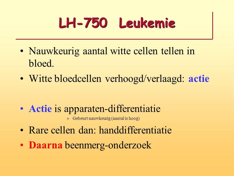 LH-750 Leukemie Nauwkeurig aantal witte cellen tellen in bloed. Witte bloedcellen verhoogd/verlaagd: actie Actie is apparaten-differentiatie »Gebeurt