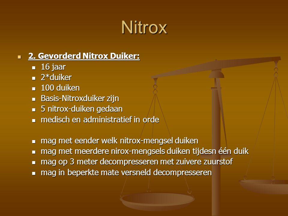 Nitrox 2.Gevorderd Nitrox Duiker: 2.