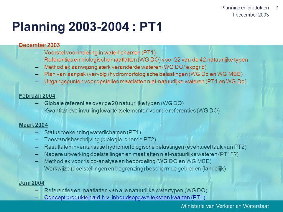 1 december 2004 Marjolein van Wijngaarden Waterlichamen in Nederland Werkwijze en resultaten Regionaal  nationaal