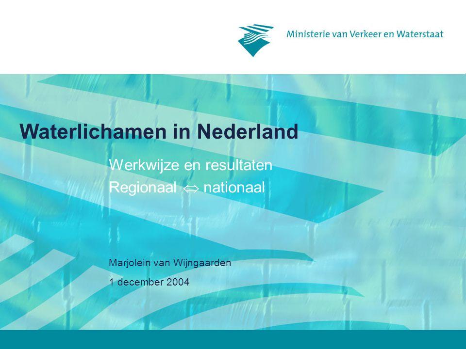 1 december 2003 Planning en produkten5 Werkwijze 1.Volgen KRW + guidance Handboek+ toelichting inhoudsopgave CRM Eerste resultaten waterlichamen in regio 2.