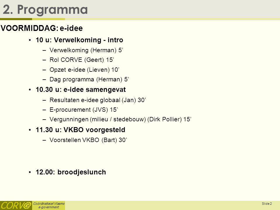 Coördinatiecel Vlaams e-government Slide 3 2.