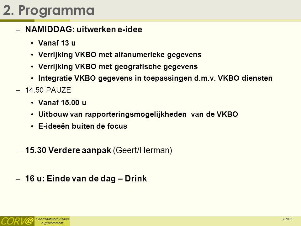 Coördinatiecel Vlaams e-government Slide 4