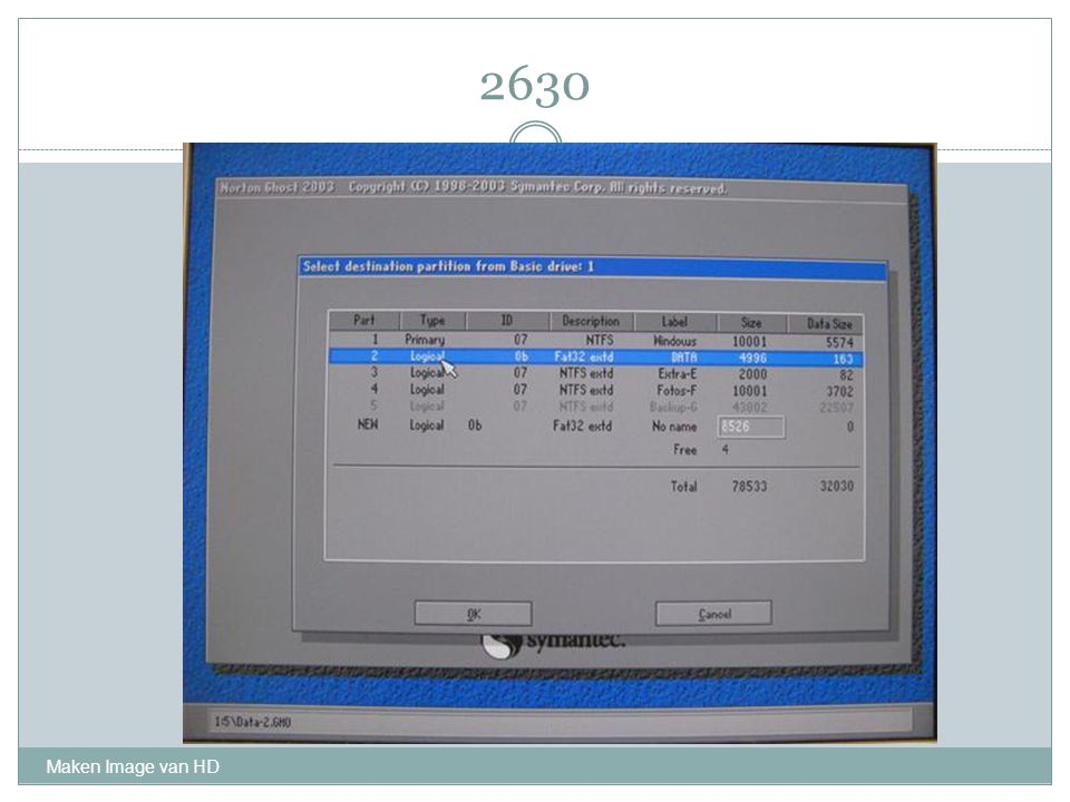 2630 Maken Image van HD
