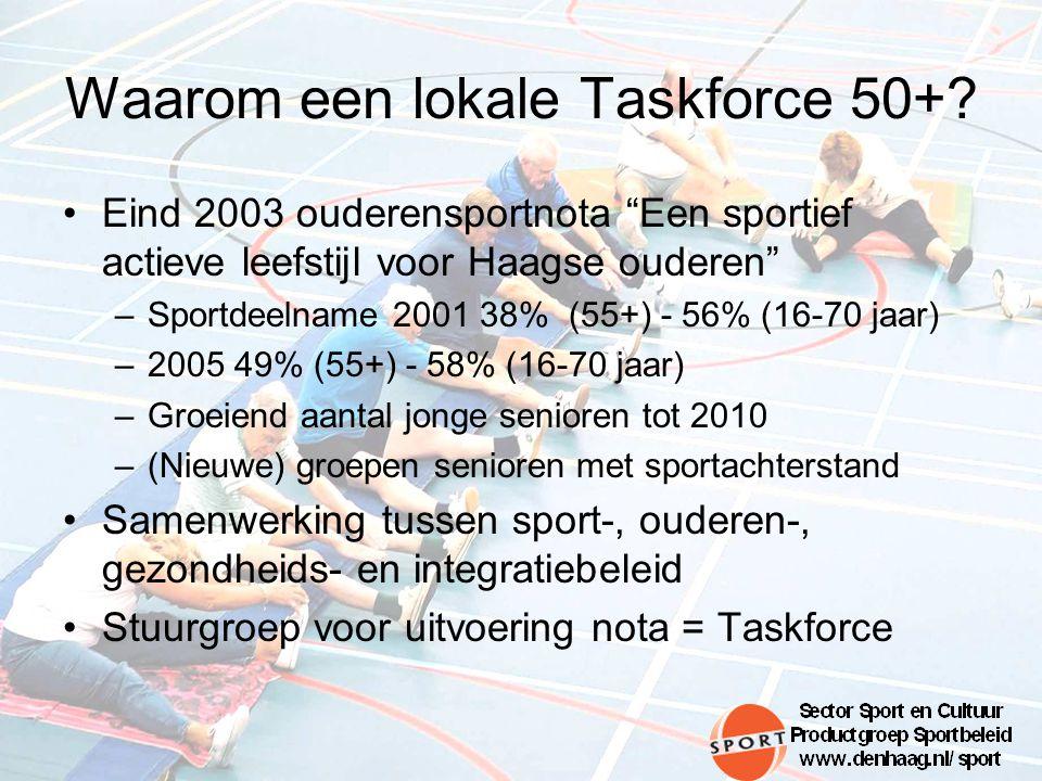 Waarom een lokale Taskforce 50+.