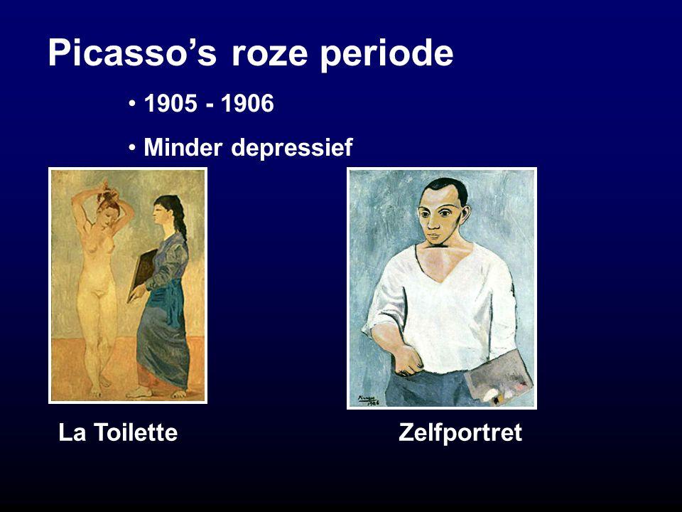 Picasso's roze periode La ToiletteZelfportret 1905 - 1906 Minder depressief