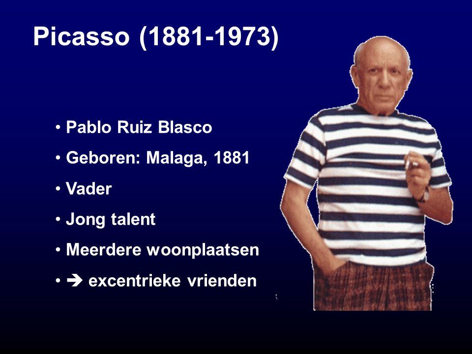 Picasso's vrienden Manuel Pallares Jaume Andreu Jaime Sabartès Carles Casagemas († 1901) Georges Braque Ambroise Vollard & Guillaume Apollinaire *