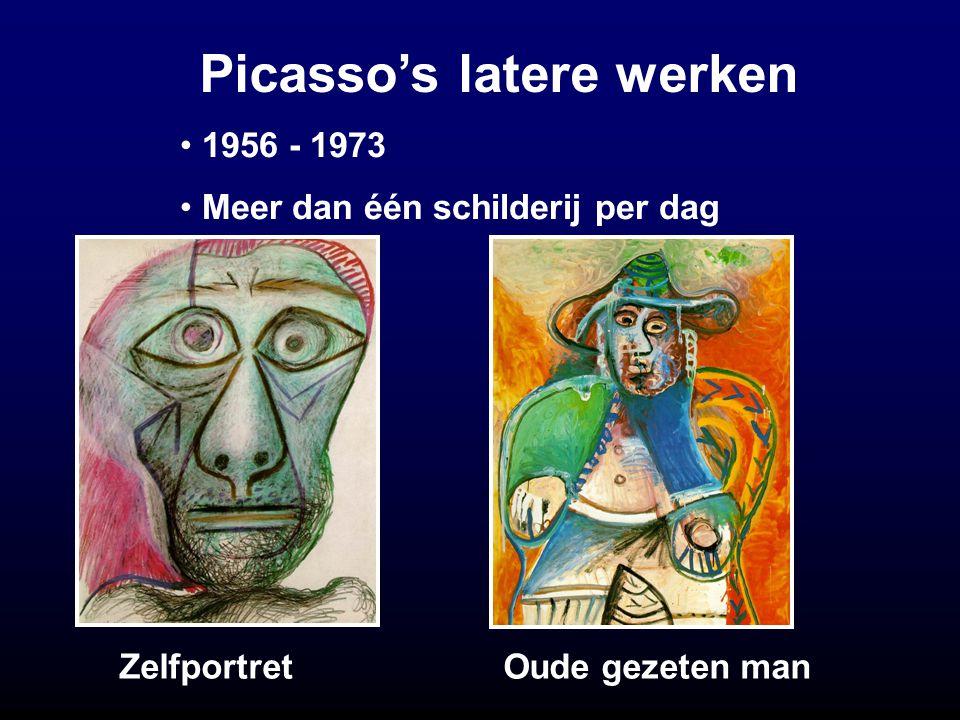 Picasso's latere werken ZelfportretOude gezeten man 1956 - 1973 Meer dan één schilderij per dag