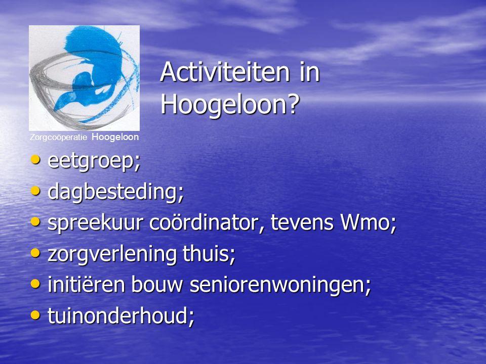 Zorgcoöperatie Hoogeloon Activiteiten in Hoogeloon.