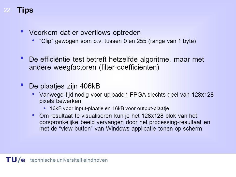 technische universiteit eindhoven 22 Tips Voorkom dat er overflows optreden Clip gewogen som b.v.