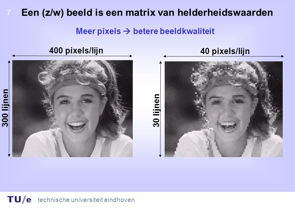 technische universiteit eindhoven 18 C-code for sharpening for(int a=width+1;a<width*height-(width+1);a++){ result=(( -1* (int)buf_i[a-1 - width] + -1* (int)buf_i[a - width] + -1* (int)buf_i[a+1- width] + -1* (int)buf_i[a-1 ] + 12* (int)buf_i[a ] + -1* (int)buf_i[a+1 ] + -1* (int)buf_i[a-1 +width] + -1* (int)buf_i[a +width] + -1* (int)buf_i[a+1+width] +2 )/ 4); if(result<0) buf_o[a]=0; else if(result>255) buf_o[a]=255; else buf_o[a]=result; }